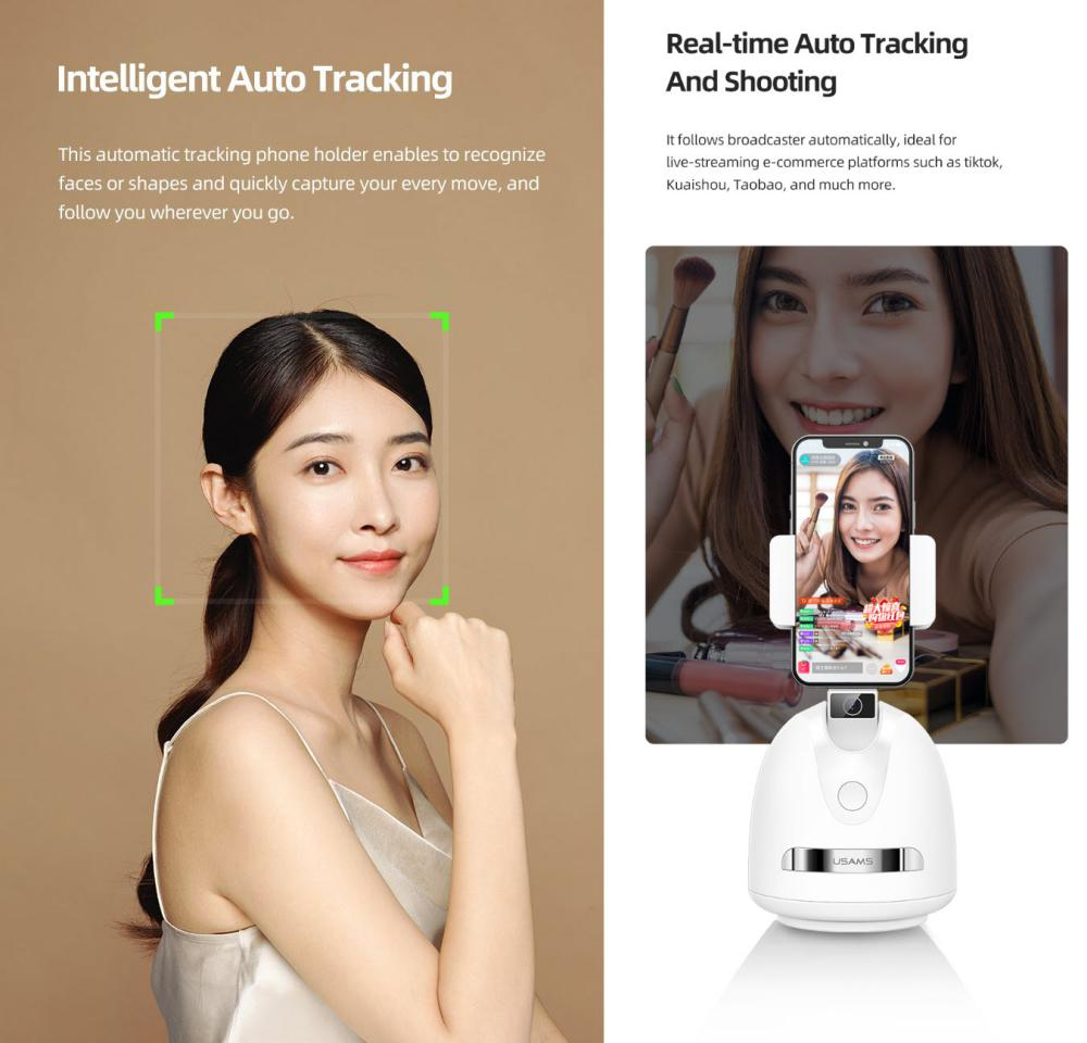 Usams Us Zb239 Smart Face Tracking Phone Holder (2)