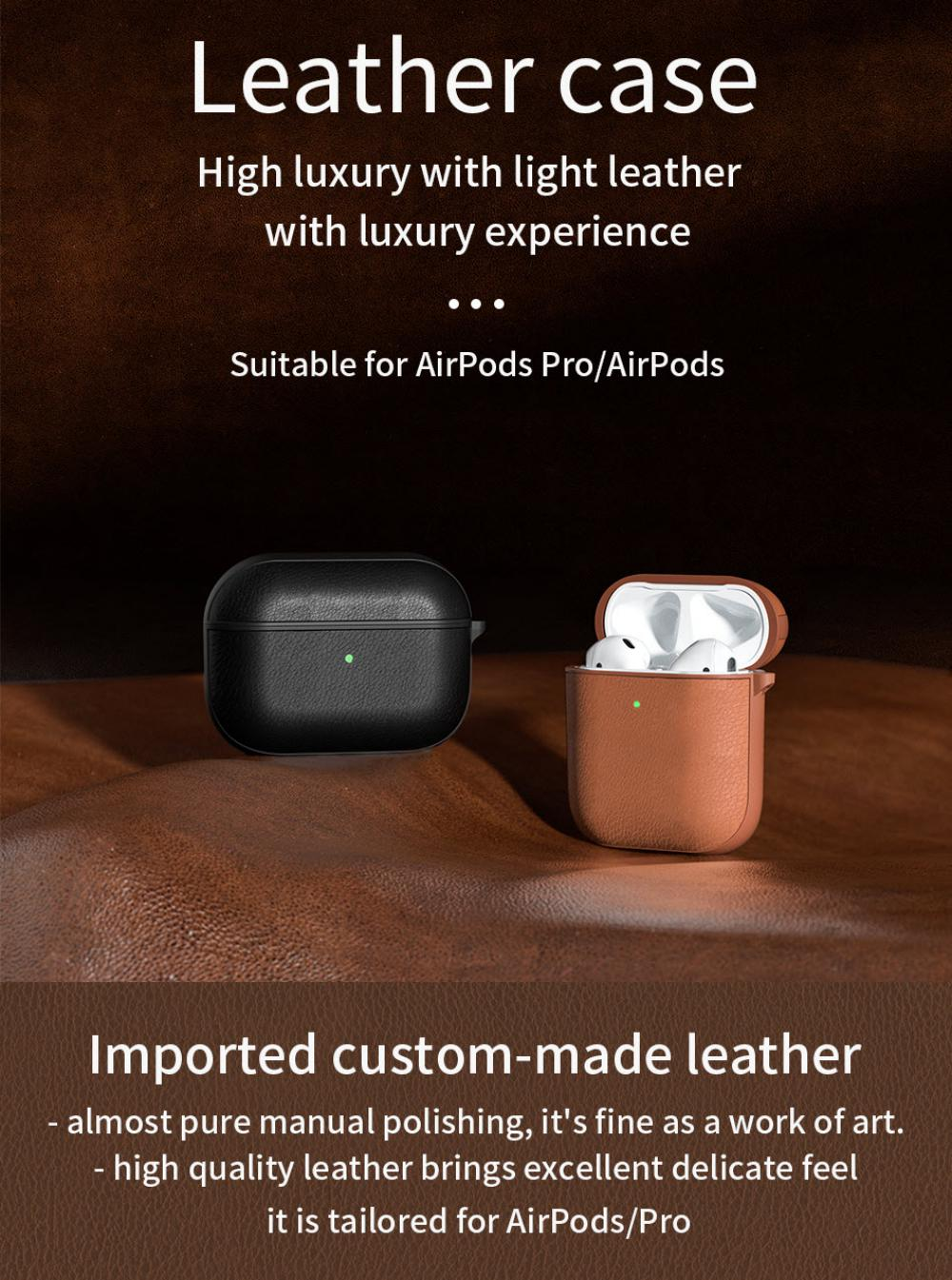 Wiwu Calfskin Genuine Leather Case For Airpods Pro (1)