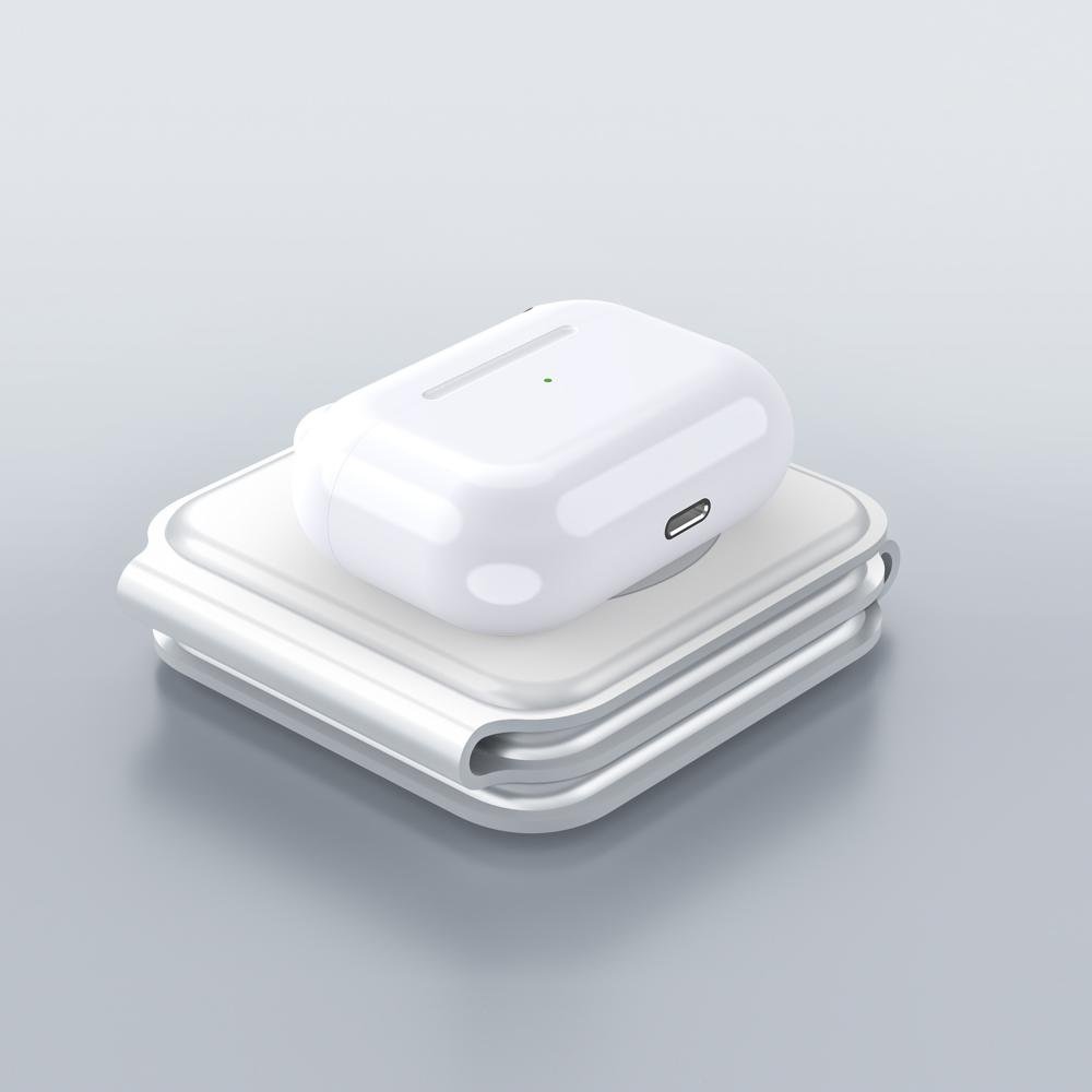 Wiwu Power Air 3 In 1 Magnets 15w Wireless Charger For Iwatch Iphone Airpods (3)
