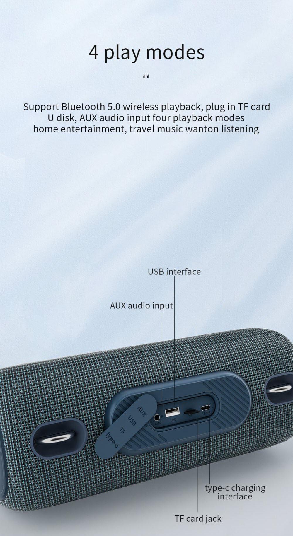 Wiwu Thunder P24 Bigger Wireless Stereo Sound Speaker (4)