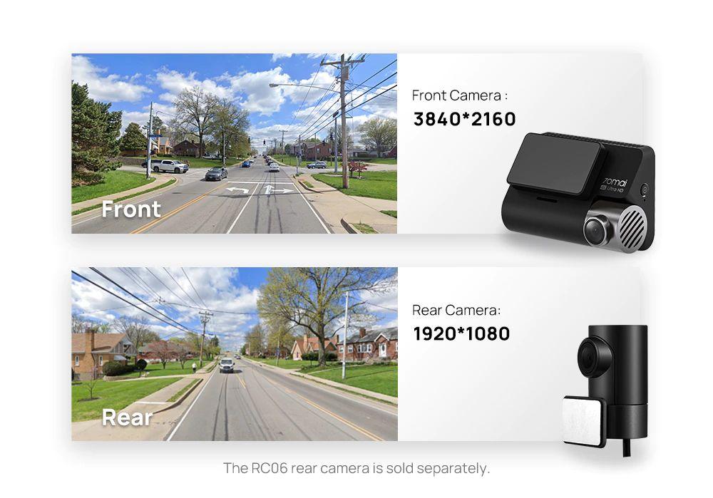 Xiaomi 70mai A800s 4k Dash Camera Ultra Hd Uhd 70mai Rear Camera Rc06 (5)