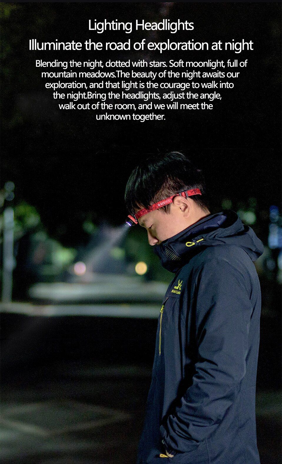 Xiaomi Beebest Led Headlight Portable Outdoor Cree Led Flash Light (1)