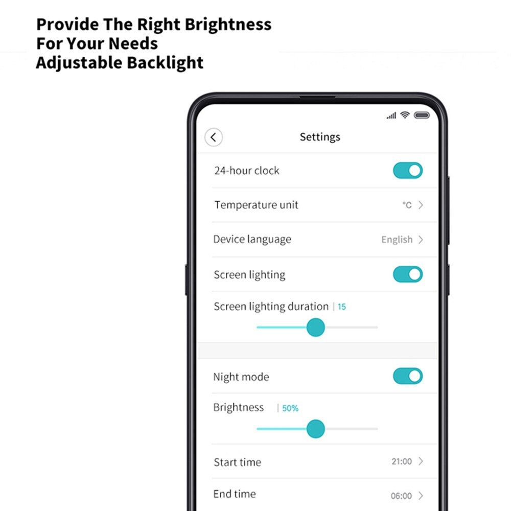 Xiaomi Youpin Qingping Mijia Bluetooth Alarm Clock Alarm Clock Temperature (2)