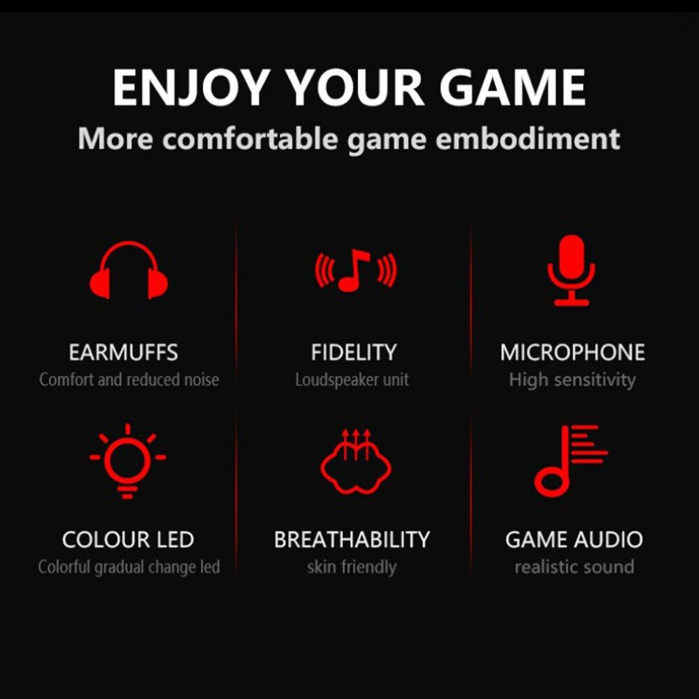 Lenovo Hu75 Wired Headset Hifi Surround Sound Rgb Colorful Light Music Game Headphone With Microphone For (1)