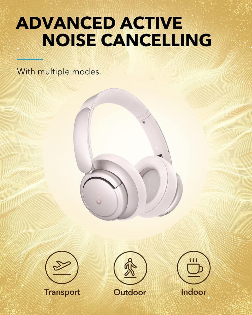 Anker Life Q35 Multi Mode Active Noise Cancelling Headphones Frosted Pearl (4)