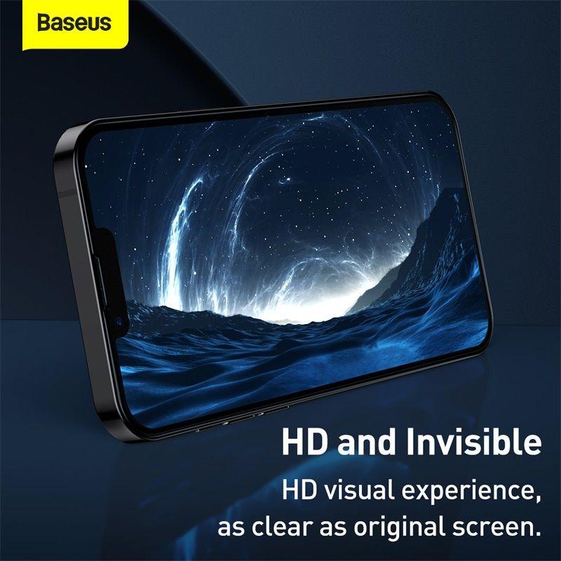 Baseus 2pcs 0 3mm Full Screen Full Glass Tempered Glass Film For Iphone 13 13 Pro 13 Pro Max (4)