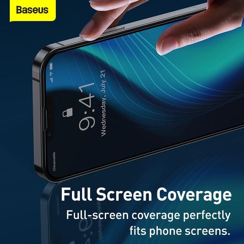 Baseus 2pcs 0 3mm Full Screen Full Glass Tempered Glass Film For Iphone 13 13 Pro 13 Pro Max (6)