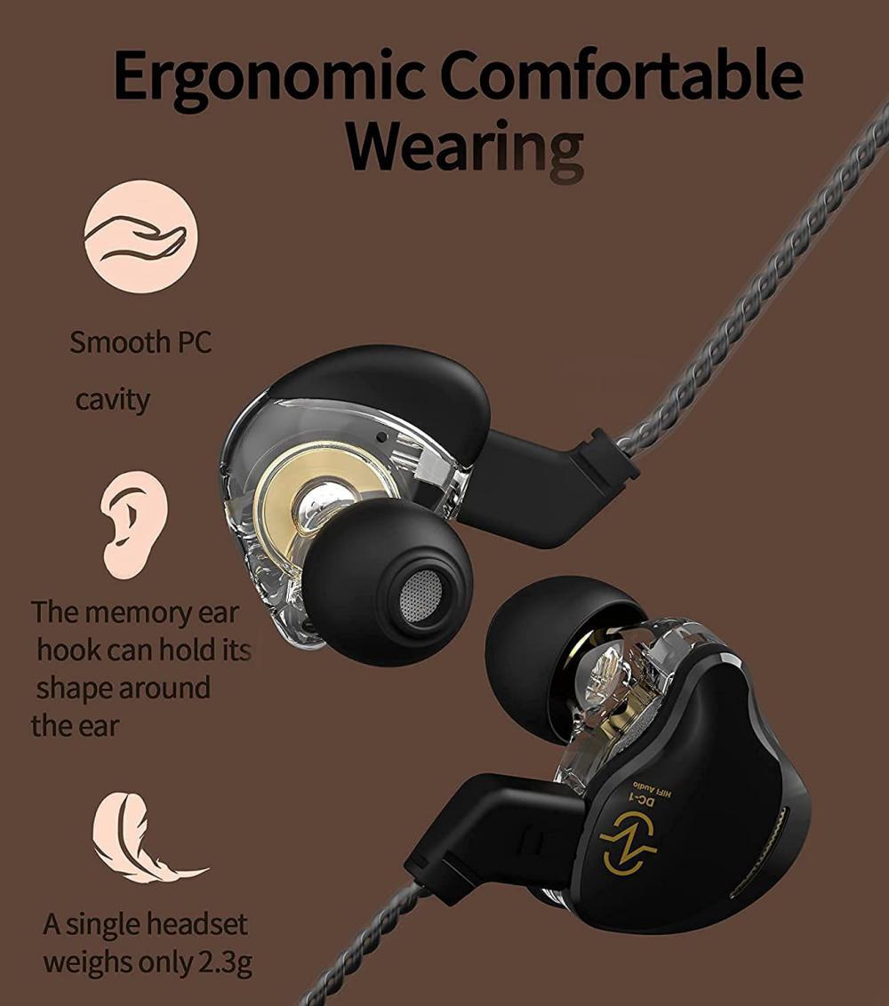 Ccz Coffee Bean 10mm Dual Magnetic Dynamic Driver Earphone (3)