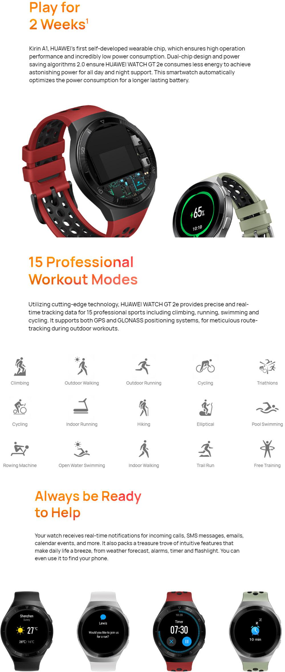 Huawei Watch Gt 2e Bluetooth Smartwatch (4)