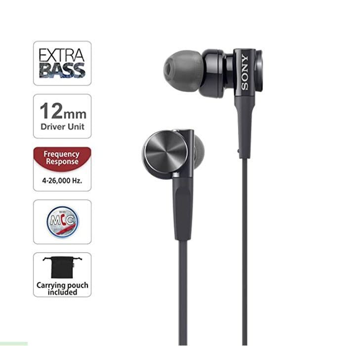 Sony Mdr Xb75ap Extra Bass In Ear Headphones (1)