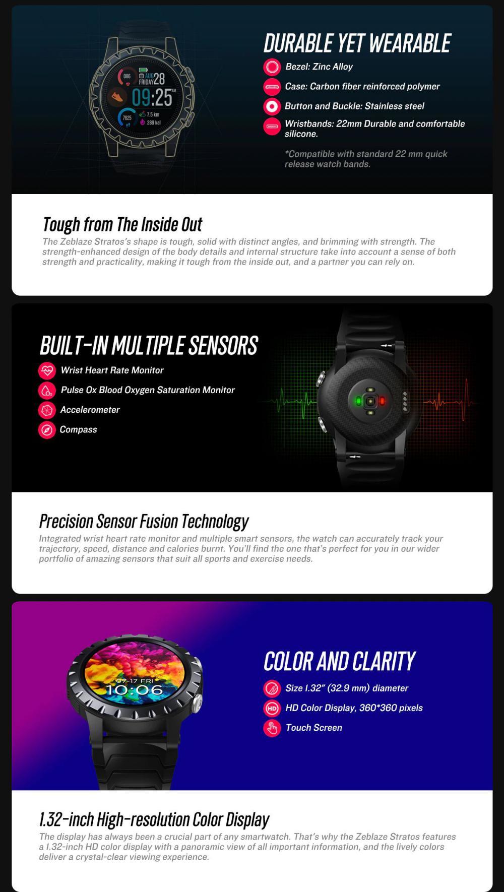 Zeblaze Stratos Gps Sports Smart Watch (2)